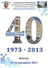 Concert prilejuit de aniversarea a 40 de ani de la înființarea Spitalului Județean de Urgență Bistrița susținut de orchestra de tineret Claudiopolis din Cluj-Napoca