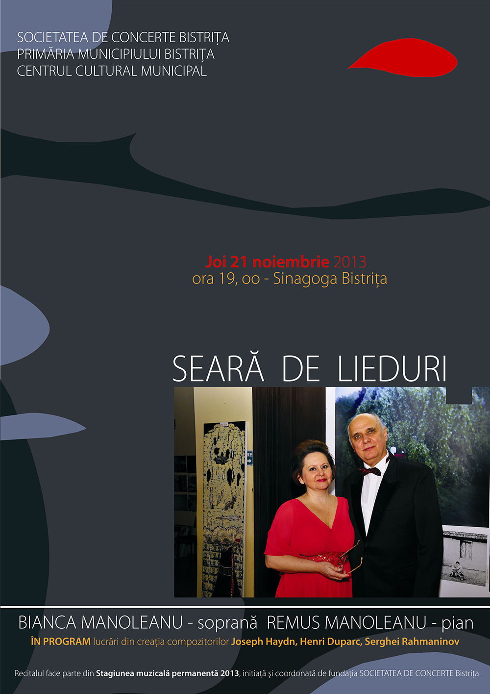 Poster Seara de lieduri cu Bianca si Remus Manoleanu