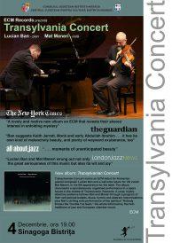 Eveniment unic: Concert de jazz susținut Lucian Ban și Mat Maneri