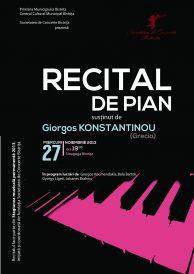 Recital de pian susținut de Giorgos Konstantinou (Grecia)