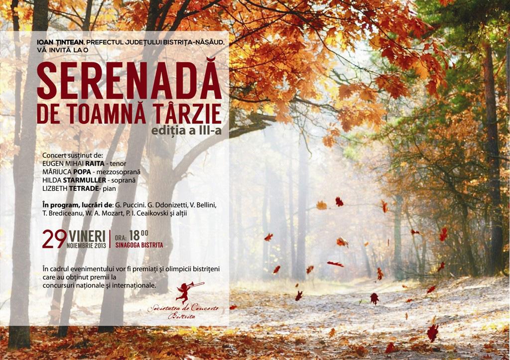 Poster serenada toamna tarzie Ioan Tintean