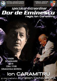 Spectacol extraordinar: Dor de Eminescu – regia Ion Caramitru