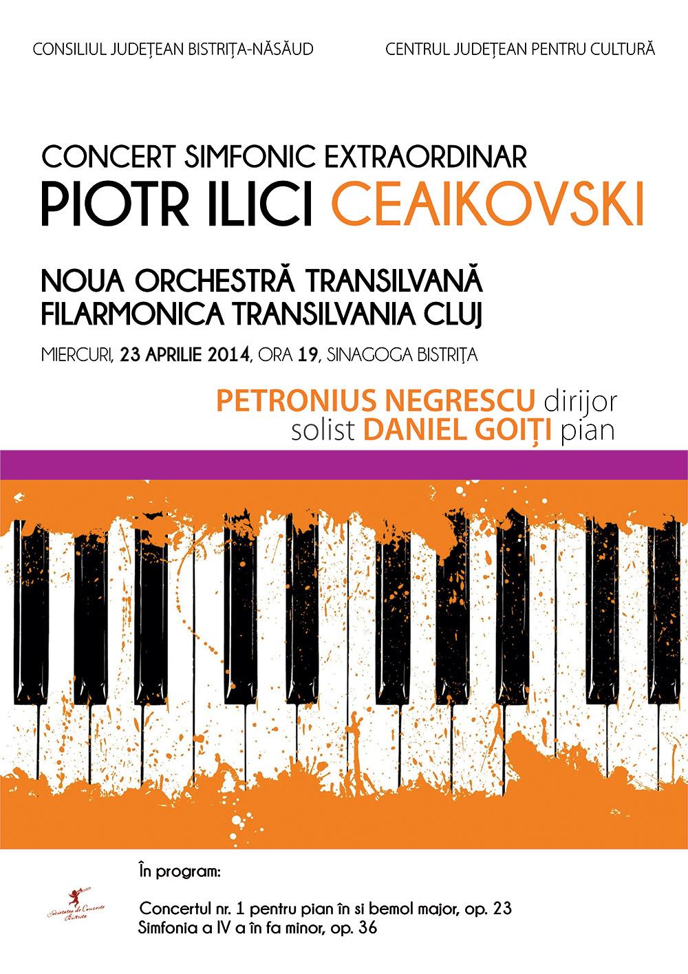 Afis concert simfonic Ceaikovski