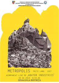 Filmul Metropolis cu coloana sonoră live susținută de colectivul muzical Abator Industries