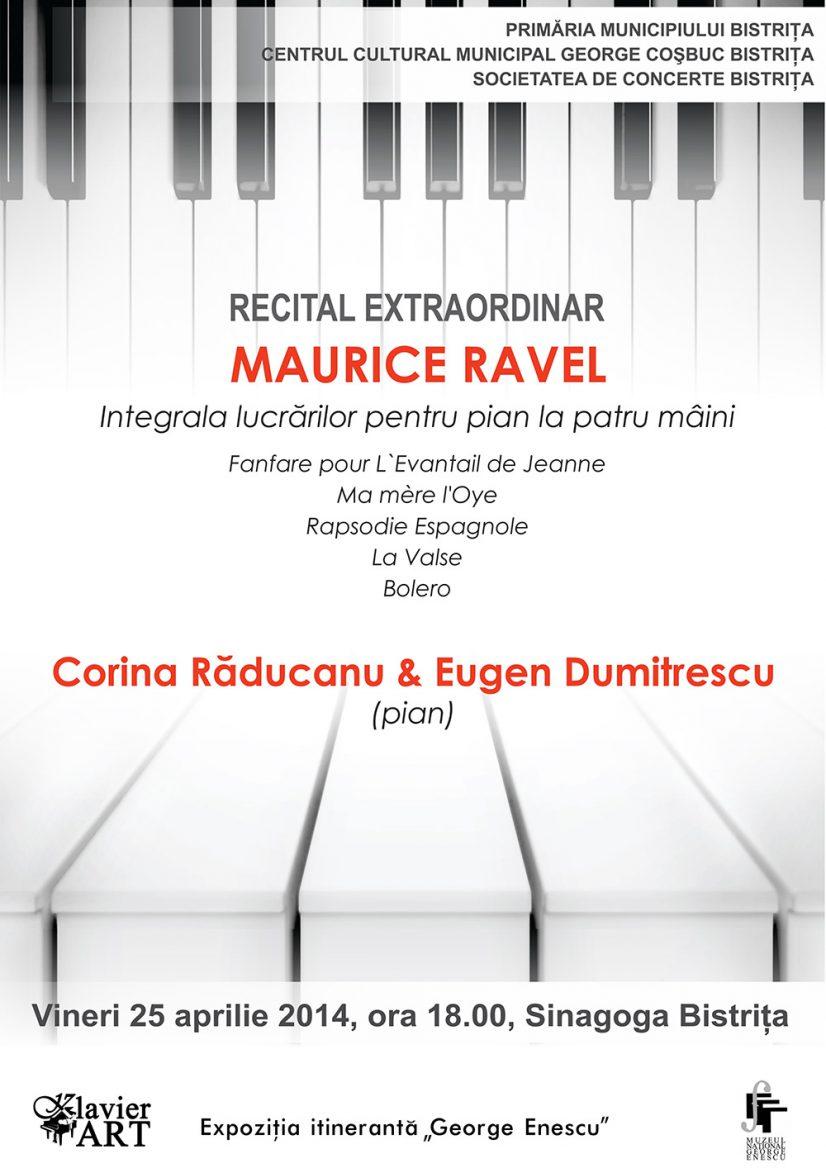 Recital extraordinar Maurice Ravel – Integrala lucrărilor pentru pian la patru mâini
