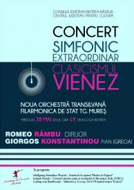 Concert simfonic extraordinar: Clasicismul Vienez
