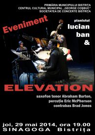Concert eveniment: pianistul Lucian Ban și grupul newyorkez de jazz Elevation