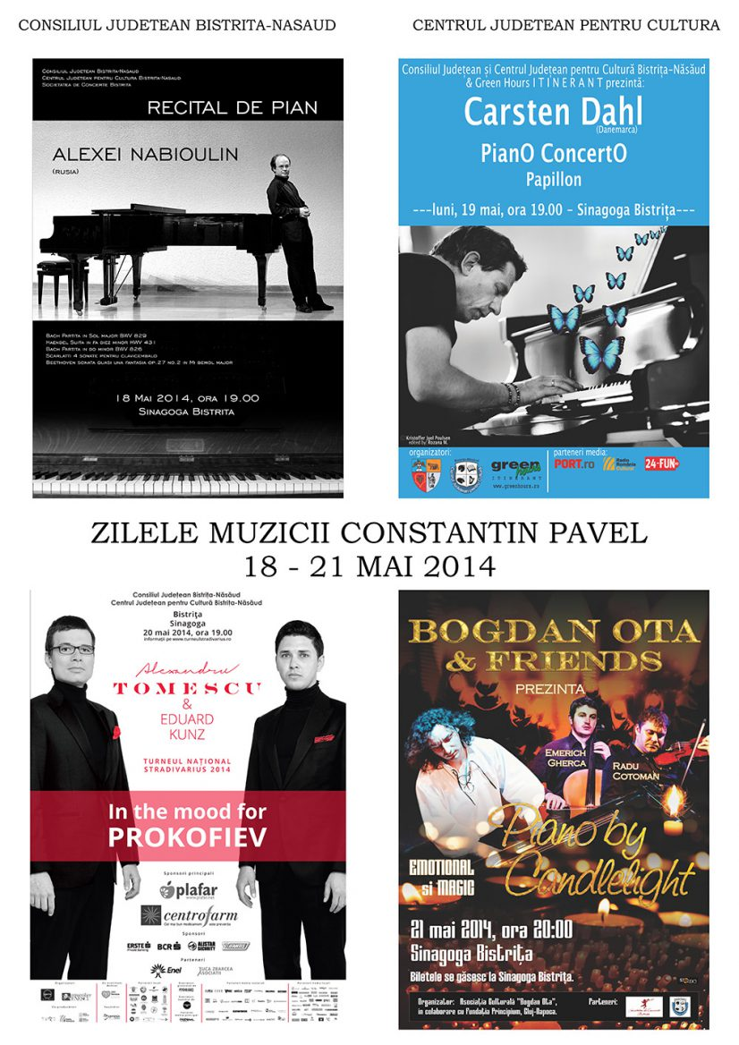 Zilele muzicii Constantin Pavel: 4 Concerte