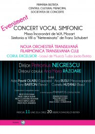 Concert vocal simfonic: Noua Orchestră Transilvană, Filarmonica Transilvania Cluj și corul Excelsior