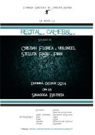 Recital cameral susținut de Cristian Florea și Steluța Radu
