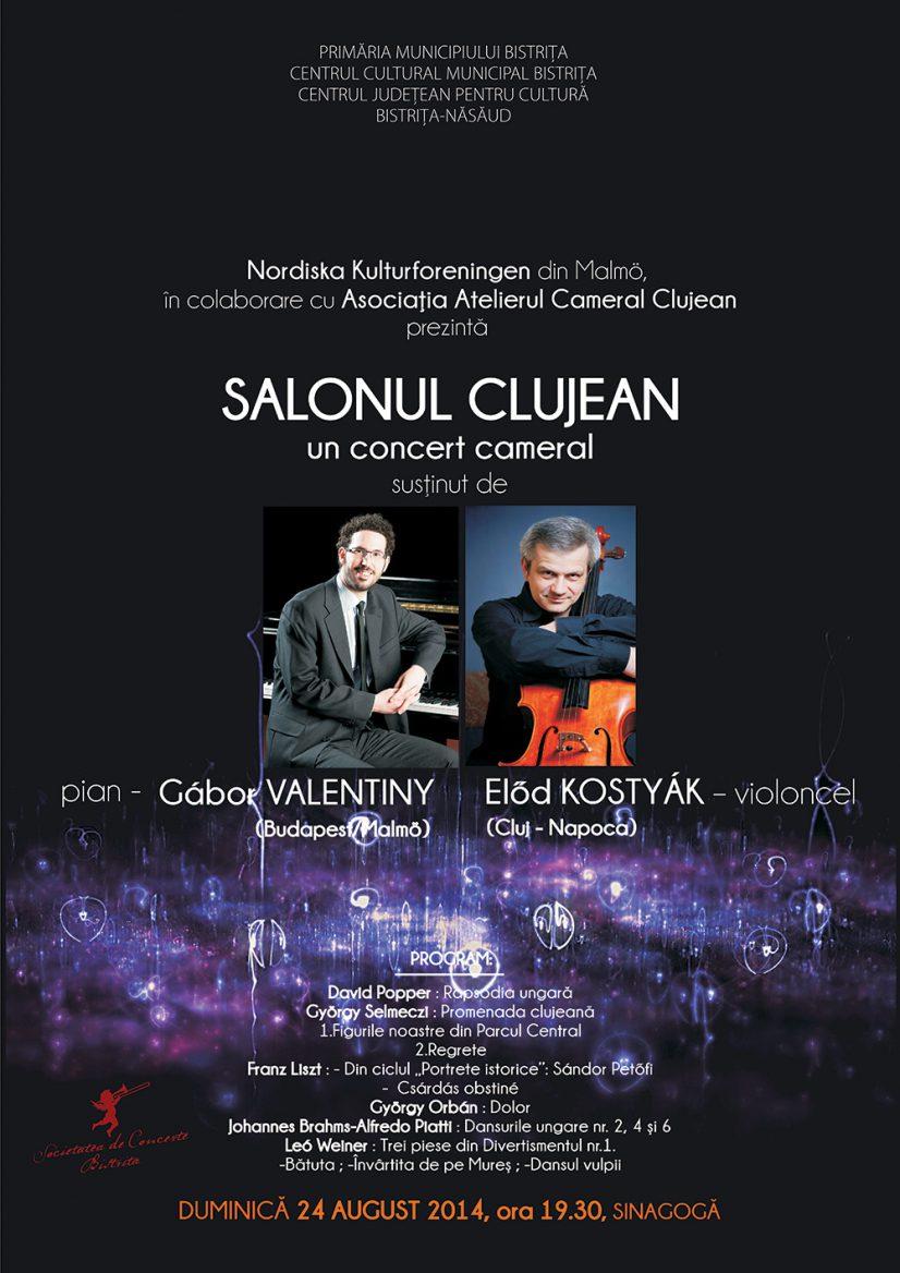 Salonul clujean – Concert cameral susținut de Gábor Valentiny (pian) și Előd Kostyák (violoncel)