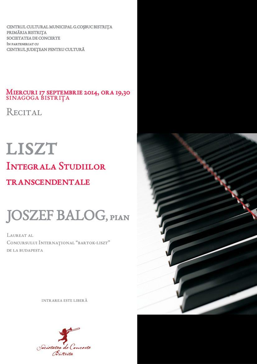 Integrala Studiilor transcendentale de F. Liszt cu JOSZEF BALOG (pian)