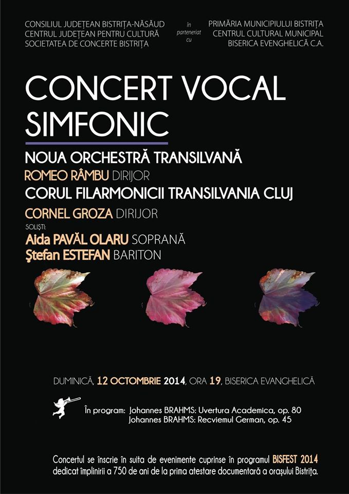 afis concert vocal duminica 12 octombrie