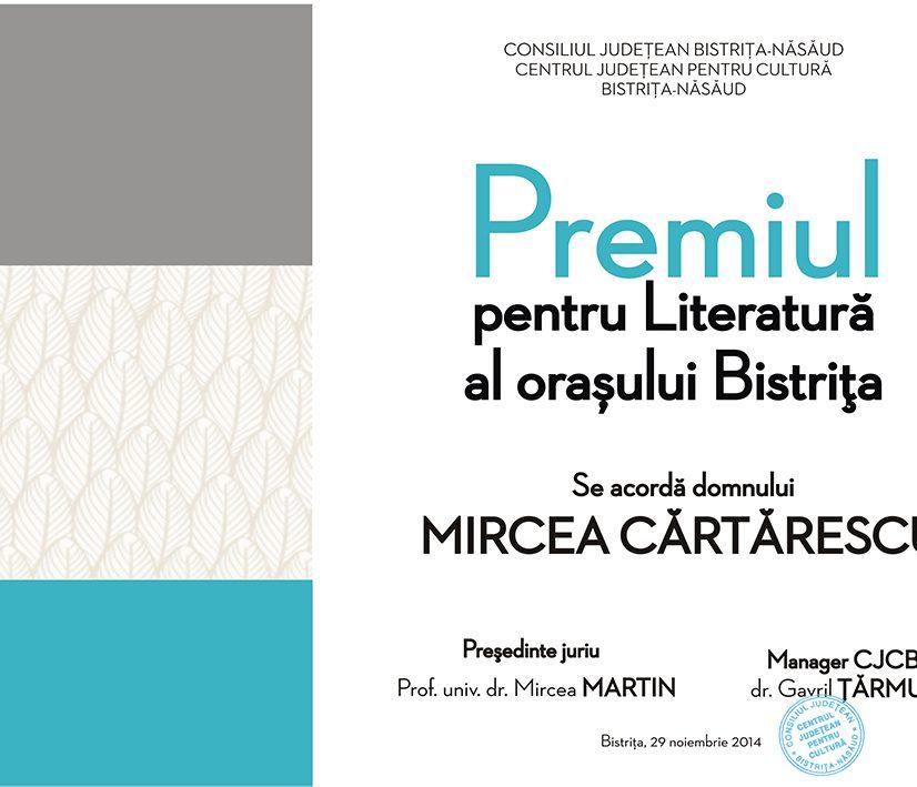 Mircea Cărtărescu la Bistriţa