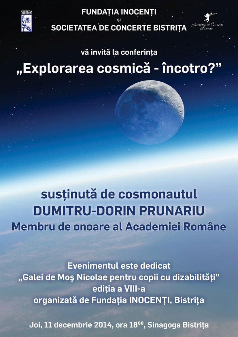 """""""Explorarea cosmică – încotro"""" – Conferință susținută de cosmonautul Dumitru-Dorin Prunariu"""