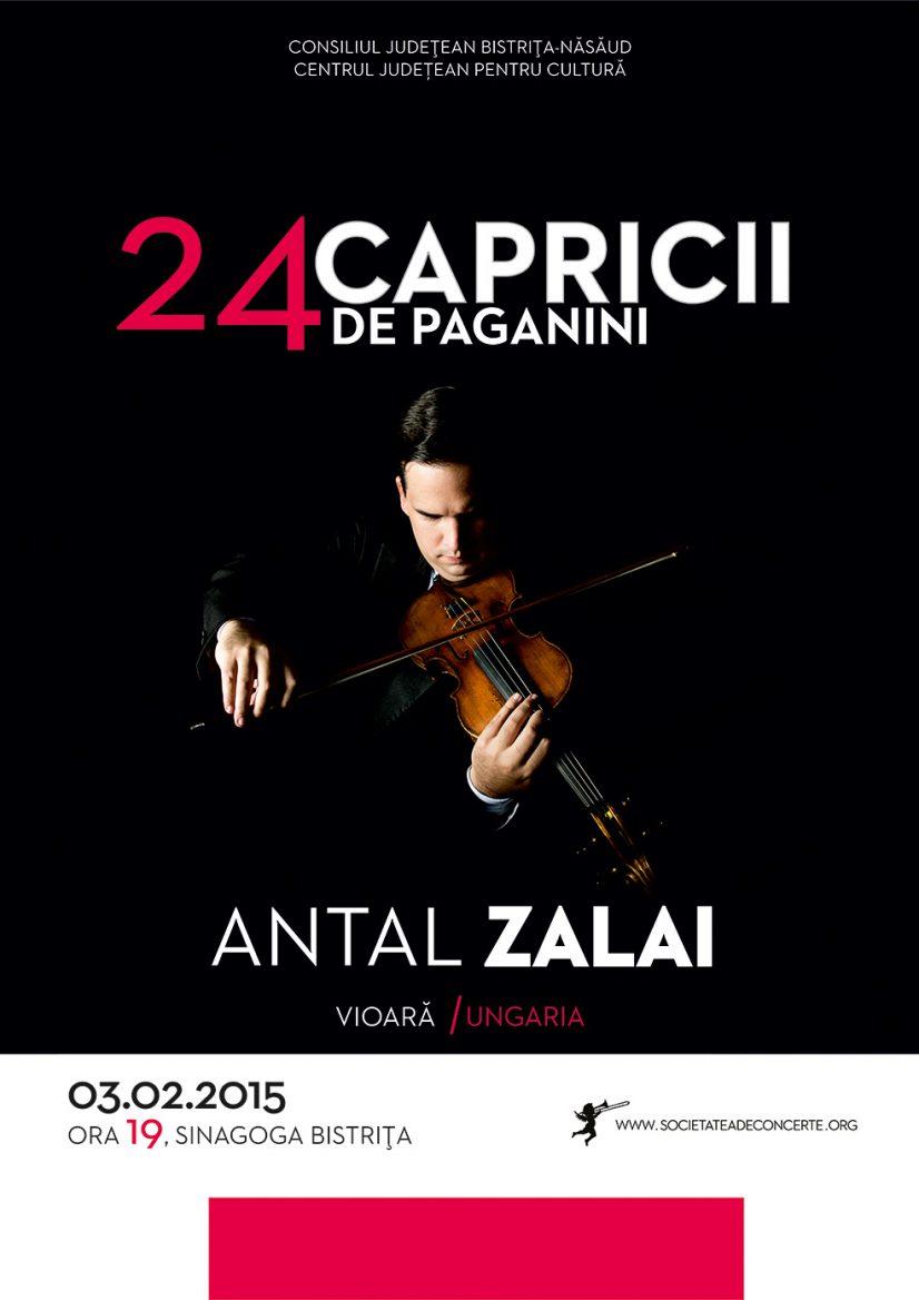 24 capricii de Paganini – Antal Zalai pe vioară Stradivarius