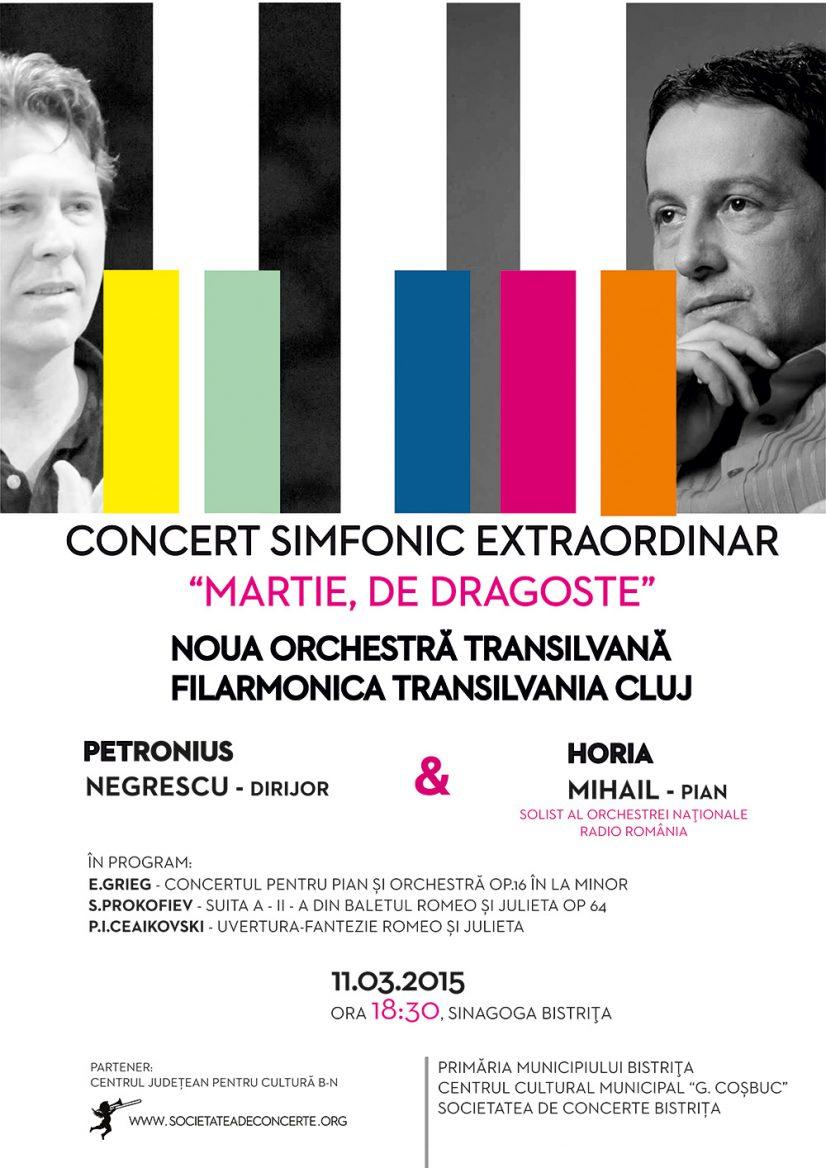 """Concert simfonic extraordinar: """"Martie, de dragoste"""" susținut de Noua Orchestră Transilvană"""