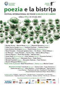 Poezia e la Bistrița 2015 – Festival internațional de poezie și muzică de cameră, ediția a VII-a, 16-19 iulie