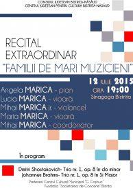 """Recital extraordinar """"Familii de mari muzicieni"""""""