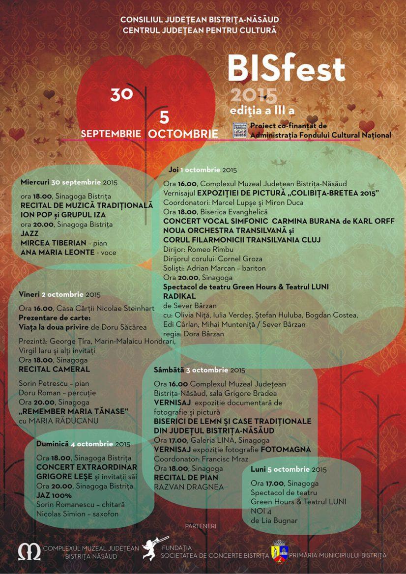 Festivalul BISfest 2015, editia a III-a