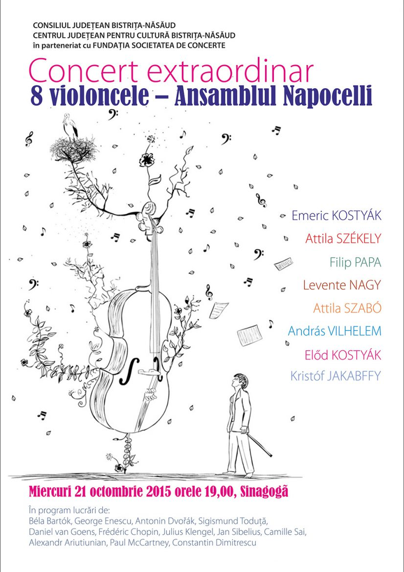 Concert extraordinar 8 violoncele: ansamblul Napocelli