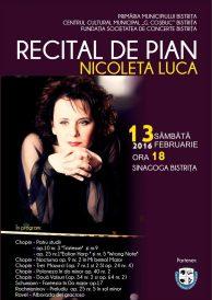 Recital de pian – Nicoleta Luca