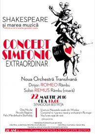 Concert simfonic extraordinar: Shakespeare și marea muzică