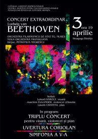 Concert extraordinar Ludwig van Beethoven sustinut de Orchestra Filarmonicii de Stat Tirgu Mures