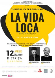 Turneul extraordinar La Vida Loca – Muzica Americii de Sud într-o nouă interpretare la flaut și pian