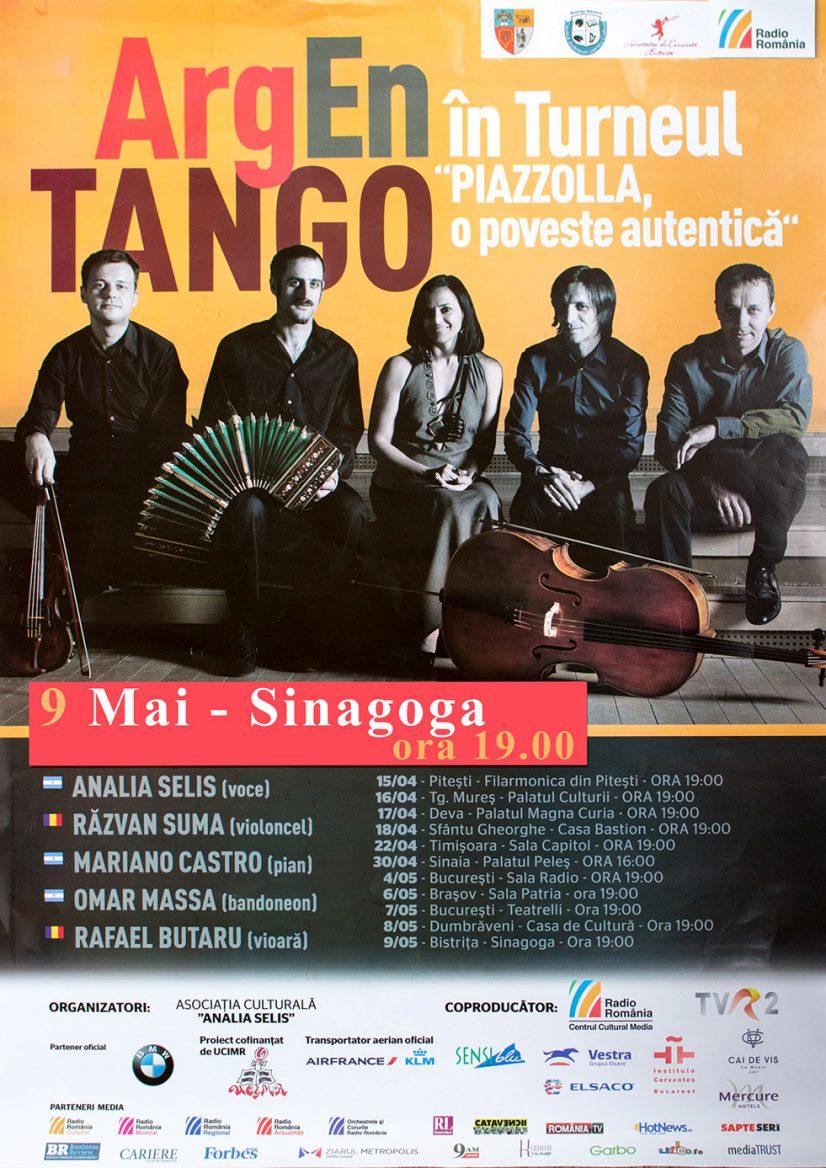 """ArgEn TANGO în Turneul: """"PIAZZOLLA , O POVESTE AUTENTICĂ"""""""