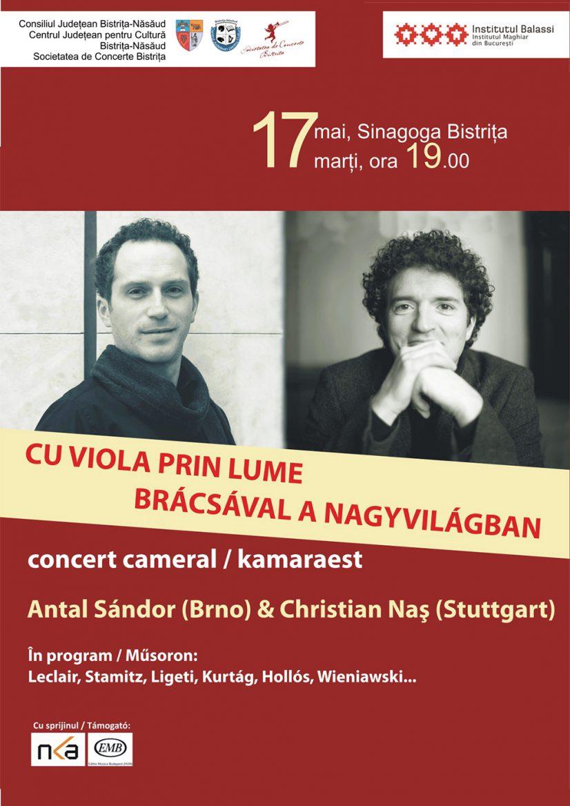 "Concertul cameral ""Cu viola prin lume"" – BRÁCSÁVAL A NAGYVILÁGBAN"