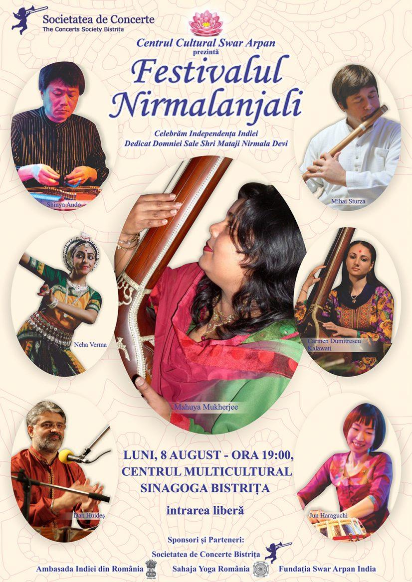 Festivalul Nirmalanjali – spectacol de muzică și dans indian
