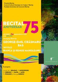 Recital aniversar Basul George-Emil Crăsnaru – 75