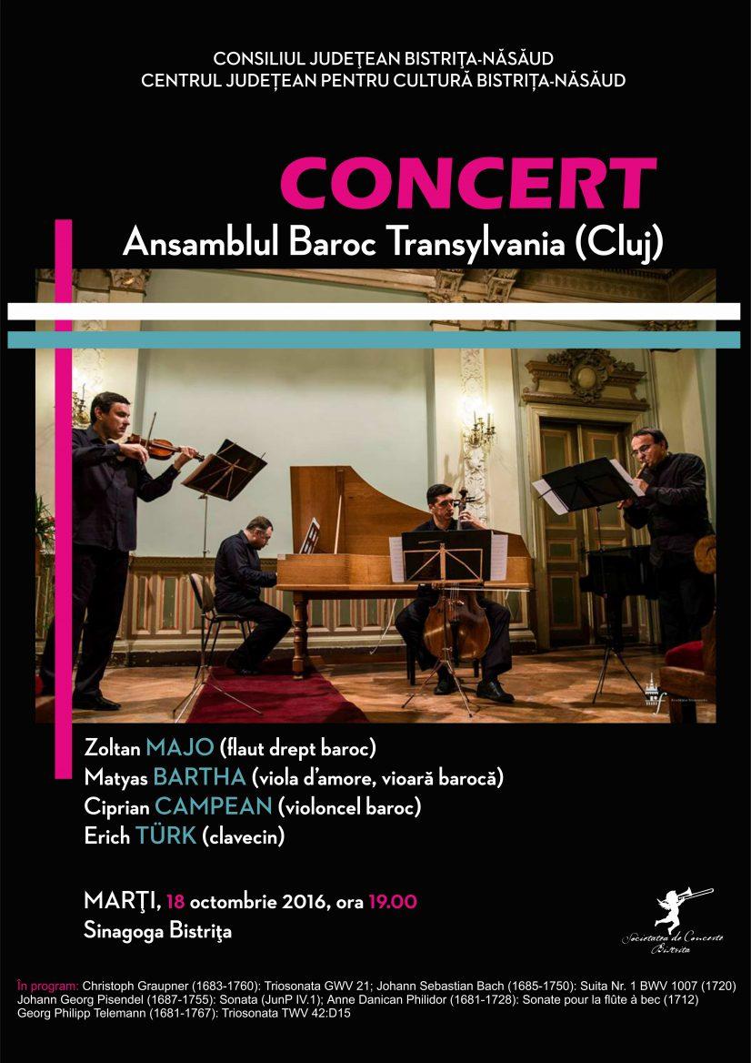 Concert Ansamblul Baroc Transylvania (Cluj)