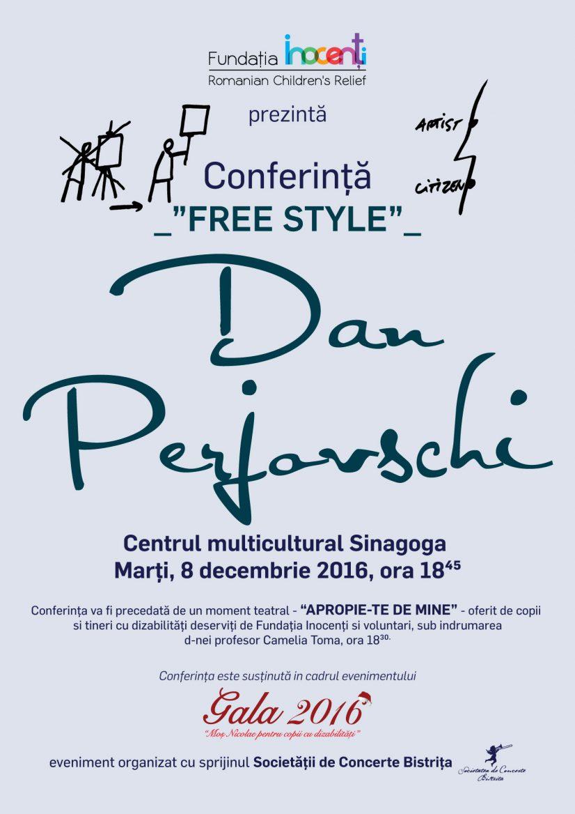 "Dan Perjovschi – Conferința ""Free style"""