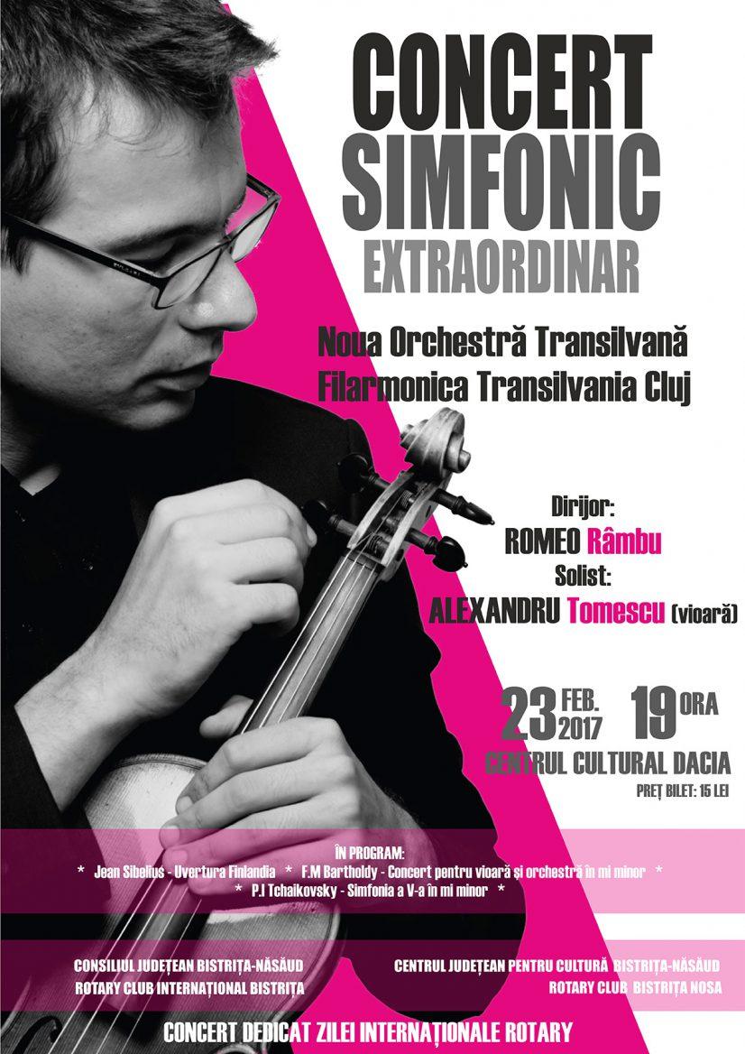 Concert simfonic extraordinar Noua Orchestră Transilvană cu Alexandru Tomescu (vioară)