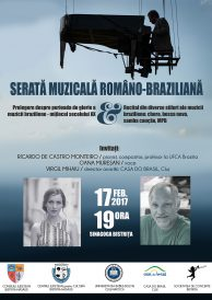 Serată muzicală româno-braziliană: choro, bossa nova, samba canção, MPB