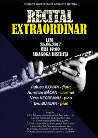 Recital extraordinar de flaut, clarinet și pian