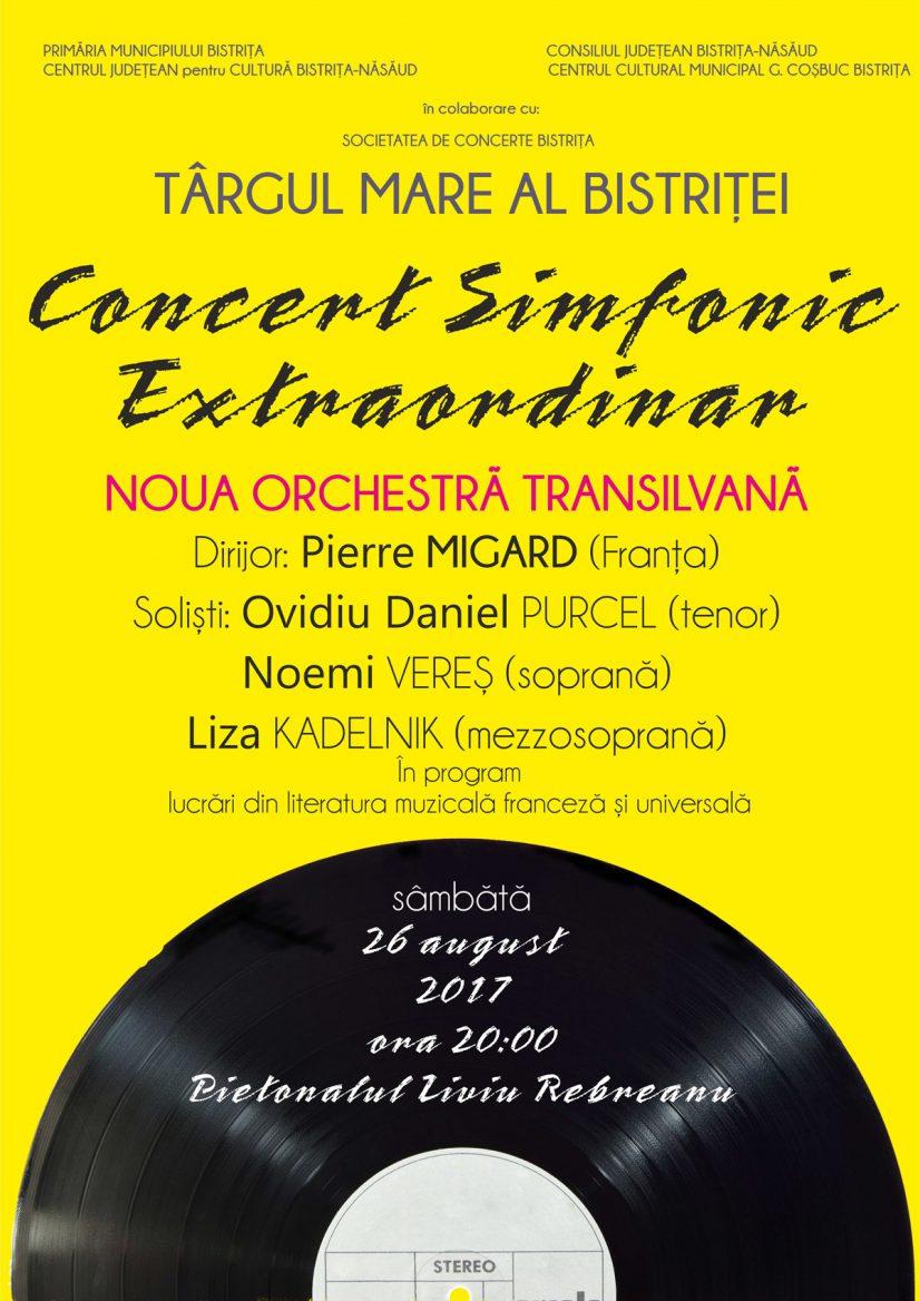 Concert simfonic extraordinar în aer liber susținut de Noua Orchestră Transilvană