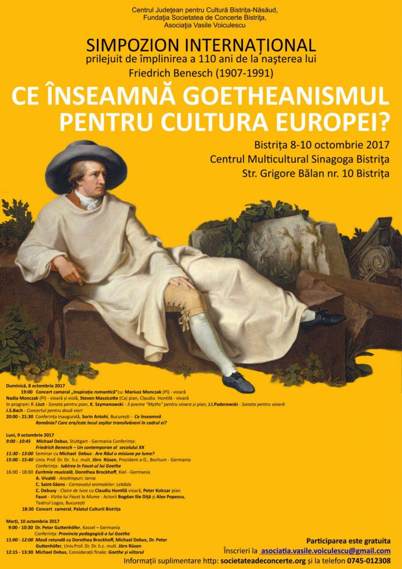 Simpozion internațional: Ce înseamnă Goetheanismul pentrul cultura Europei