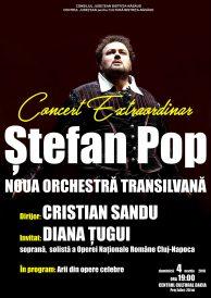 Concert extraordinar Ștefan Pop și Noua Orchestră Transilvană