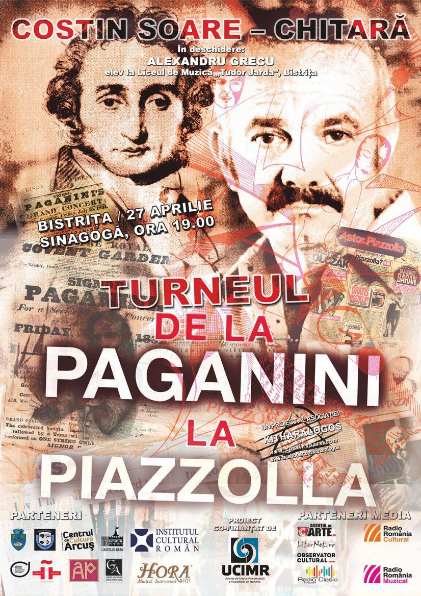 "Concert de chitară ""De la Paganini la Piazzolla"" cu COSTIN SOARE"