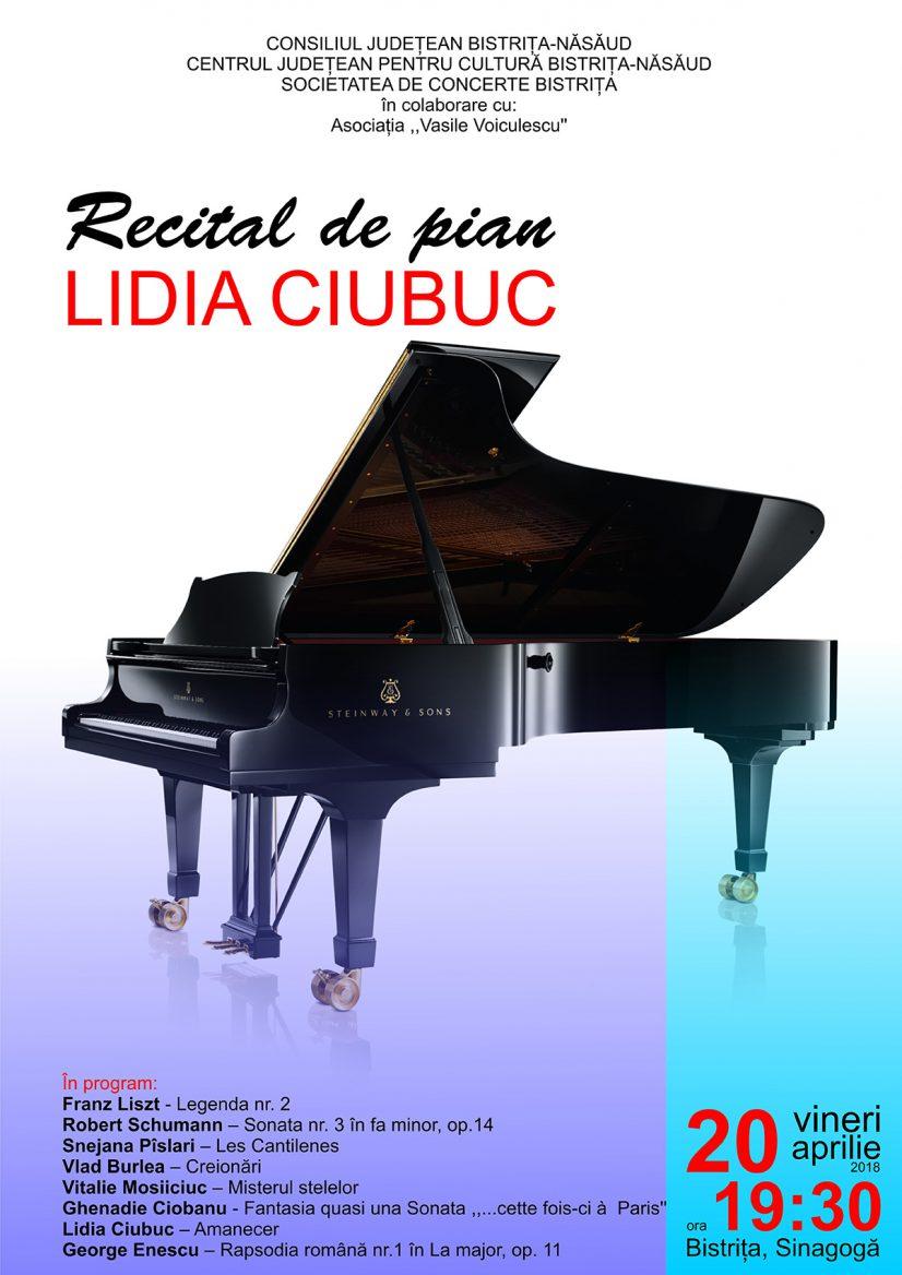 Recital de pian susținut de Lidia Ciubuc
