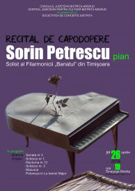 Recital de capodopere susținut de pianistul Sorin Petrescu