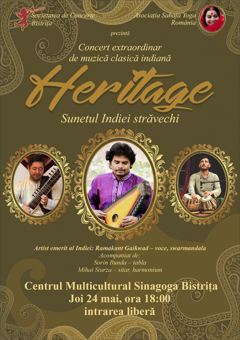 Concert de muzică indian: Heritage – Sunetul Indiei străvechi