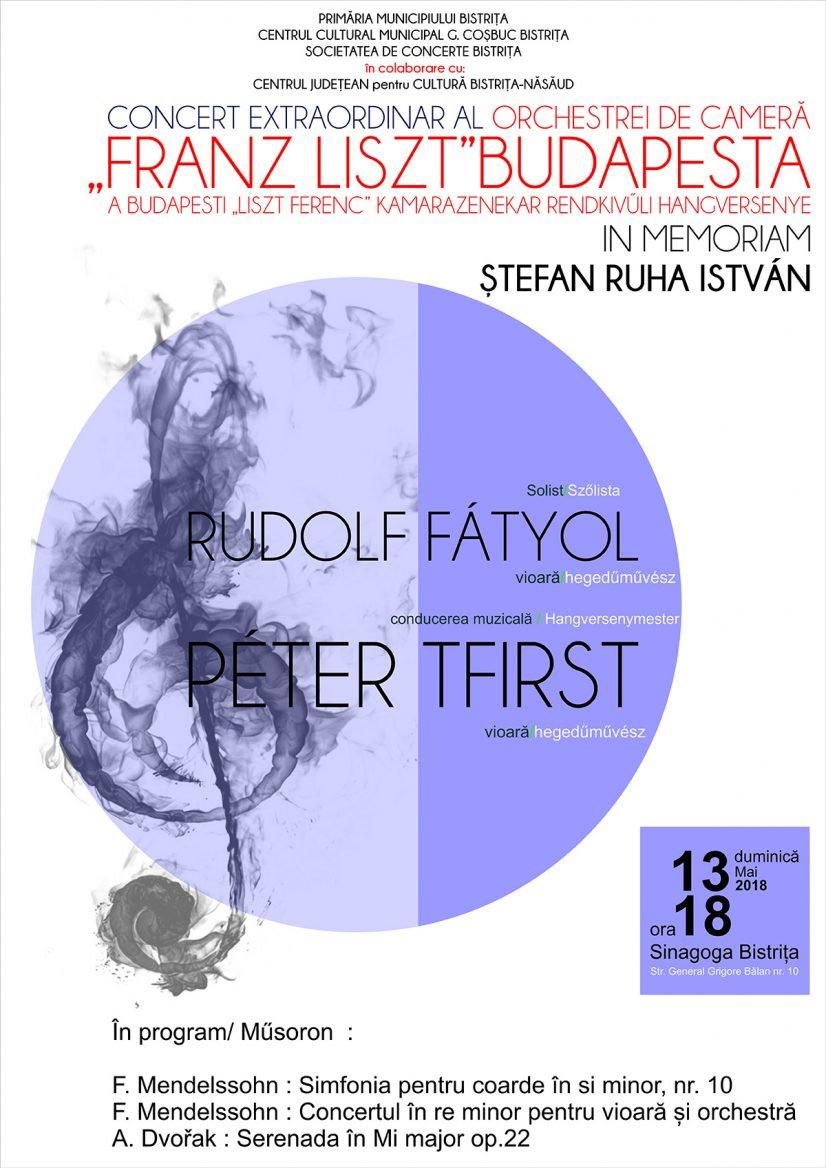 "Concert extraordinar al Orchestrei de Cameră ""Franz Liszt"" din Budapesta"