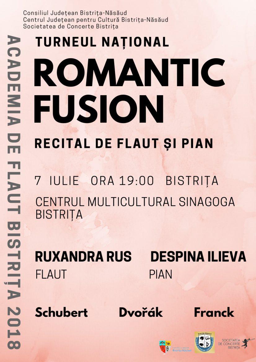 """Turneul național """"Romantic Fusion"""" – Recital de flaut și pian"""