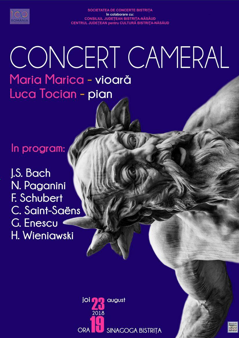 Concert cameral susținut de Maria Marica și Luca Tocian