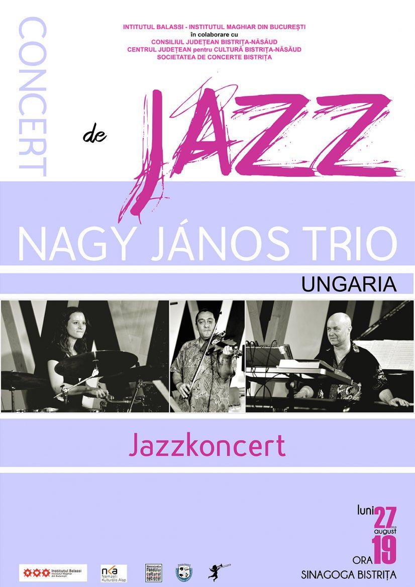 Concert de jazz – NAGY JÁNOS TRIO (Ungaria)