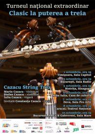 """Turneul național """"Clasic la puterea a treia"""" cu violoncelistul Marin Cazacu şi invitaţii săi"""